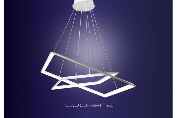 Светодиодная люстра Квадро. Два квадрата 34 и 52 см